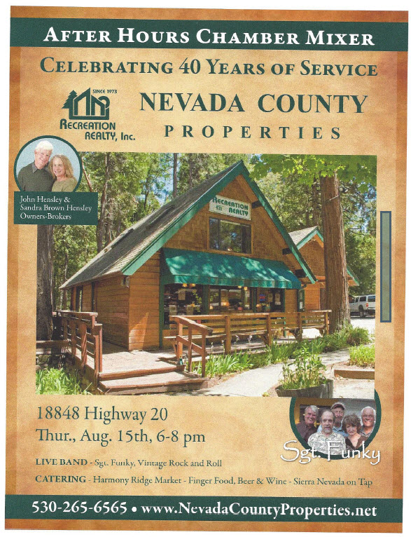 40th year party flyer with Chamber