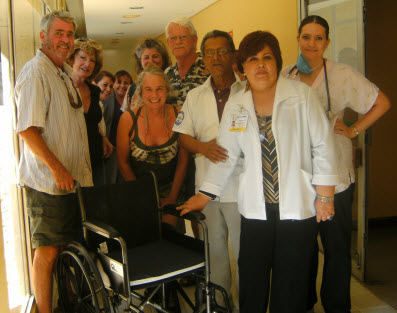 Nevada City and Cabo San Lucas Rotary delivering wheelchairs